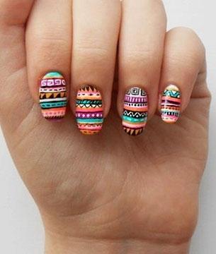 เล็บ Tribal Art Nails