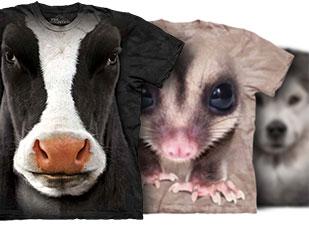 เสื้อยืดรูปหน้าสัตว์
