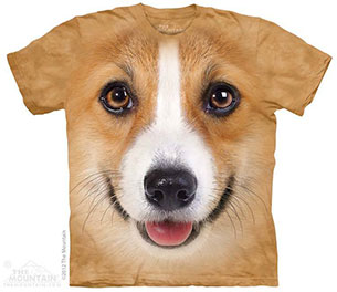เสื้อยืดรูปหน้าสัตว์ หมา คอร์กี้