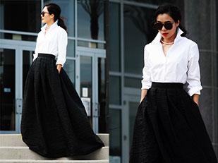 แว่นตากันแดด Karen Walker, เสื้อเชิ้ต Costco, เสื้อคลุม Vivian Chan