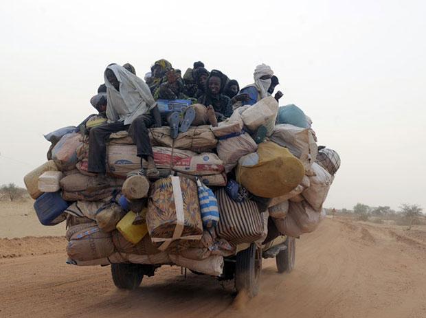 แอฟริกา รถขนของเกินขนาด