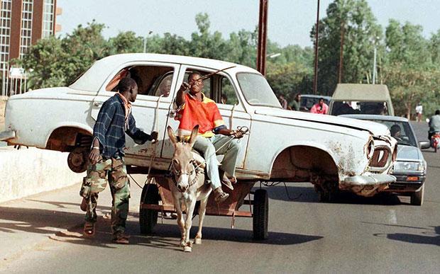 แอฟริกา เกวียนขนรถ