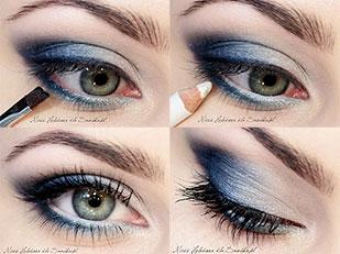 Eye Makeup Blue Jeans