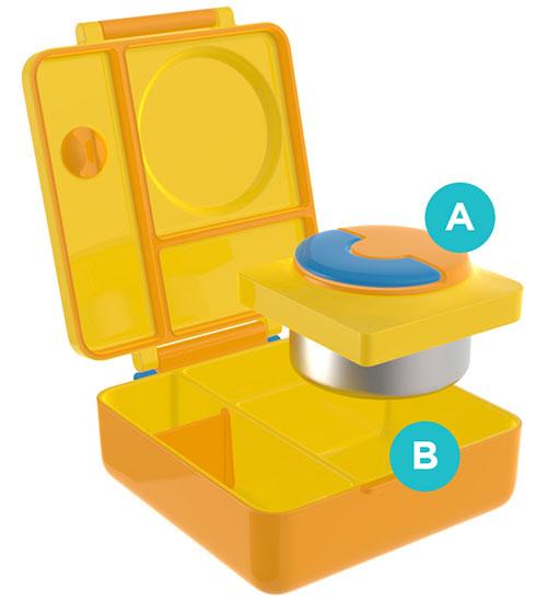 OmieBox กล่องข้าวสำหรับเด็ก ถอดกัวยกันความร้อนได้