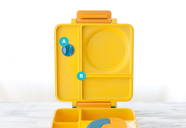 OmieBox กล่องข้าวสำหรับเด็ก ที่เสียบช้อนส้อม
