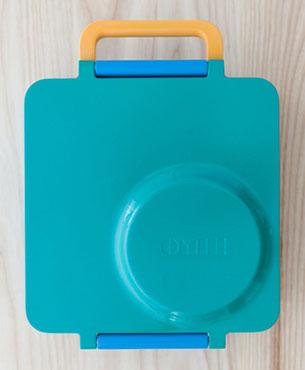 OmieBox กล่องข้าวสำหรับเด็ก สีฟ้าอมเขียว