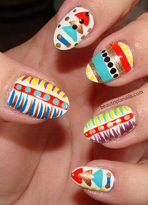 Tribal Art Nails เล็บ