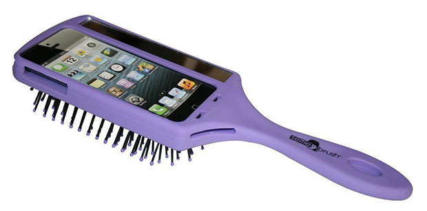 iPhone Case หวี Selfie ม่วง