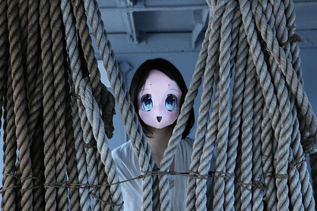 ตาสีฟ้า หน้ากากกระดาษการ์ตูนญี่ปุ่น