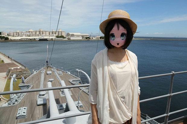 ตาสีเขียว หน้ากากกระดาษการ์ตูนญี่ปุ่น