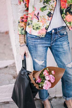 บอยเฟรนด์ยีนส์ AE แจ๊คเก็ต Line & Dot เสื้อยืด Joie รองเท้า Zara กระเป๋า Celine นาฬิกา Daniel Wellington
