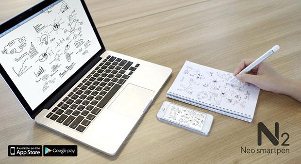 ปากกา Neo Smartpen N2 เขียนบนกระดาษ บันทึกในสมาร์ทโฟน