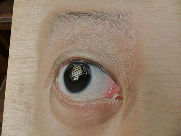 ภาพวาด 3 มิติ ตา