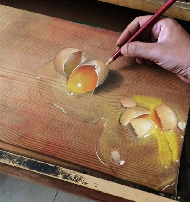 ภาพวาด 3 มิติ ไข่