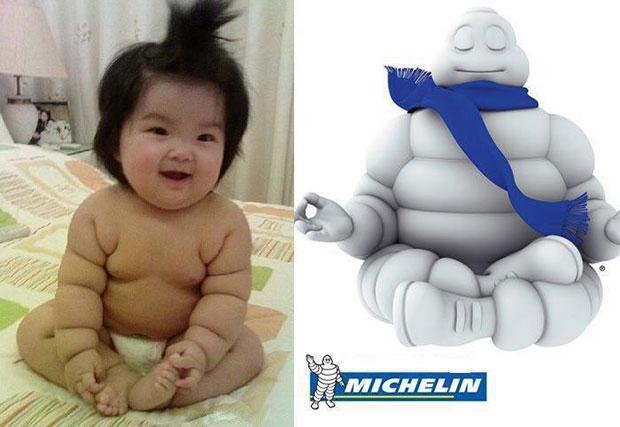 ภาพเหมือน เด็ก Michelin