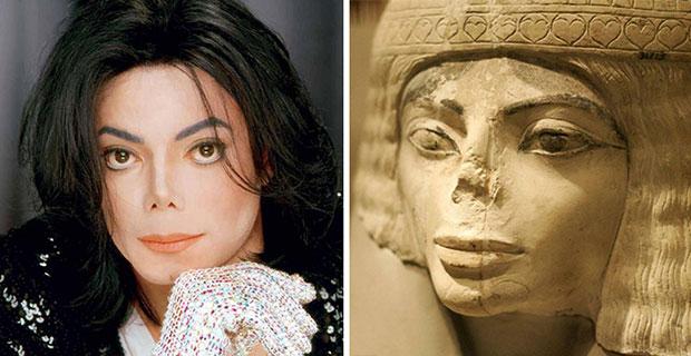 ภาพเหมือน Michael Jackson รูปปั้นอียิปต์