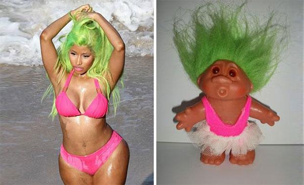 ภาพเหมือน Nicky Minaj  ตุ๊กตาผมฟู