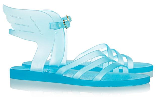 รองเท้าแตะยาง มีปีก สีฟ้า