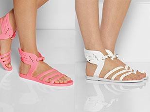 รองเท้าแตะ สไตล์กรีกโบราณ มีปีก