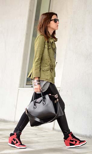 รองเท้า Nike Dunk High เสื้อ Coosy กระเป๋า Givenchy Antigona แจ็คเก็ต Zara กางเกง Suiteblanco แว่นตากันแดด Ray Ban