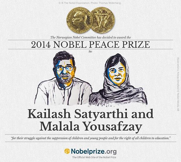 รางวัลโนเบล สาขาสันติภาพ 2014 ไกรลาส สัตยาธิ มะลาละห์ ยูซัฟซัย