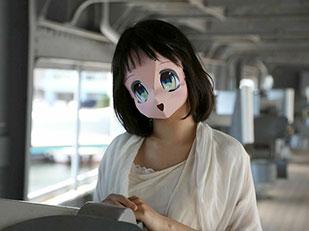 หน้ากากกระดาษการ์ตูนญี่ปุ่น 2.5D Mask