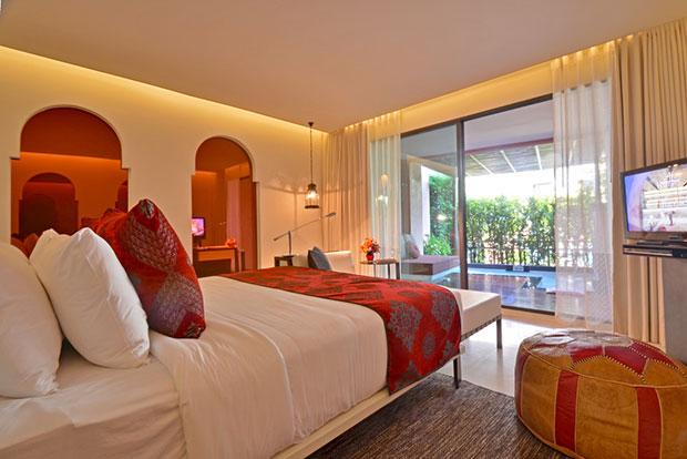 ห้องพัก Fountain Pool Suite