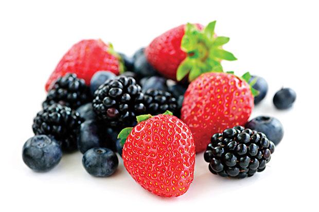 อาหารไบโอตินสูง ผลไม้ตระกูลเบอร์รี่