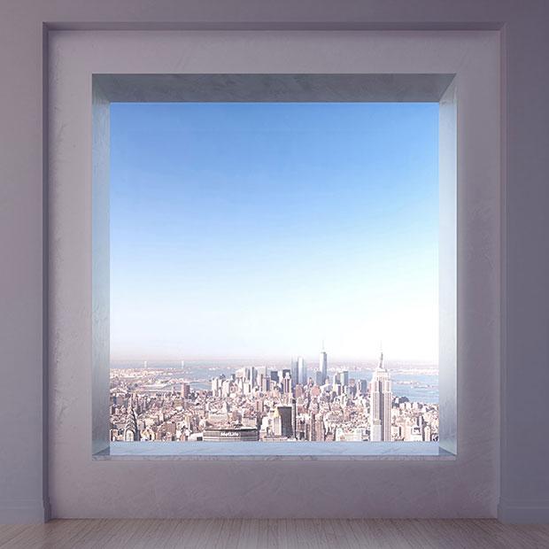 เพนท์เฮ้าส์ แมนฮัตตัน หน้าต่าง 10x10 ฟุต