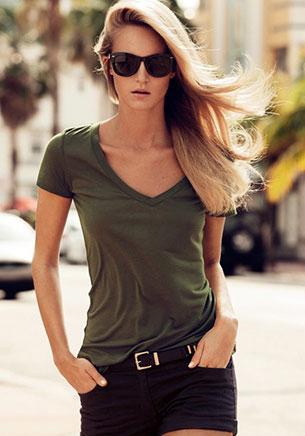 เสื้อยืดแนวทหาร