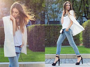 เสื้อยืด Primark, กางเกงยีนส์ Zara, เสื้อคลุม Zara, รองเท้า Buffalo Boots, สร้อยคอ Zara