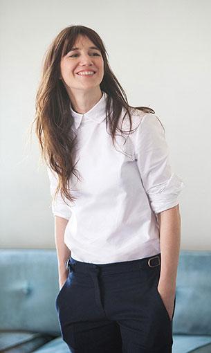 เสื้อเชิ้ต สีขาว Charlotte Gainsbourg Drew Barrymore Tommy Hilfiger BHI