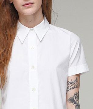 เสื้อเชิ้ต สีขาว Thom Dolan