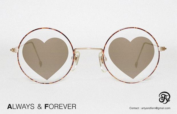 แว่นตาเลนส์รูปหัวใจ Always&Forever