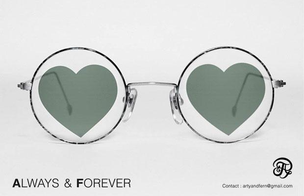 แว่นตาเลนส์รูปหัวใจ