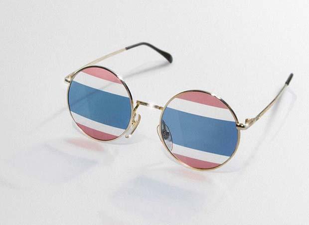 แว่นตาเลนส์ลายธงชาติ