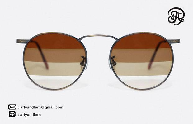 แว่นตาเลนส์ไล่สี สีชา