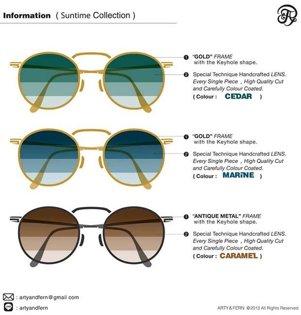 แว่นตาแฟชั่น Arty&Fern เลนส์ไล่สี