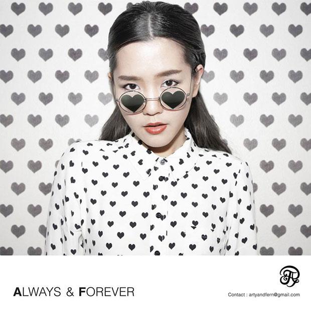 Always&Forever แว่นตาเลนส์รูปหัวใจ