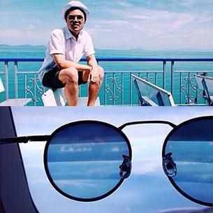 Arty&Fern แว่นตาเลนส์ไล่สี สีฟ้า