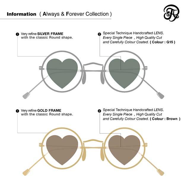 Arty&Fern แว่นตาเลนส์รูปหัวใจ