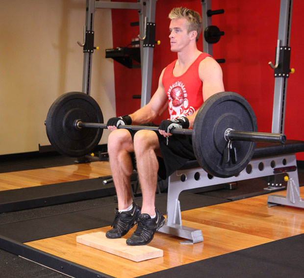 Barbell Seated Calf Raise ท่าบริหารน่อง
