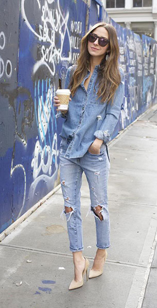 Boyfriend ยีนส์ Wildfox เสื้อ Paige Denim รองเท้า Jimmy Choo แว่นตากันแดด แว่นตากันแดด กระเป๋า Chanel