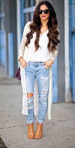 Boyfriend ยีนส์ Zara เสื้อ Nordstrom เสื้อคลุม Windsor รองเท้า Dolce Vita กระเป๋า Windsor แว่นตากันแดด Karen