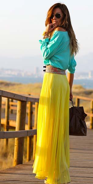 Color Blockกระโปรง Regalo เสื้อ Primark เข็มขัด Sfera กระเป๋า Bolso รองเท้า Parfois