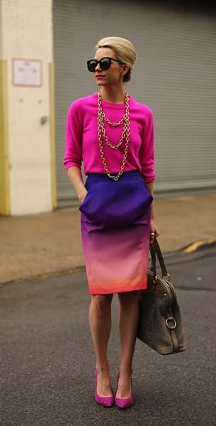 Color Block กระโปรง Rebecca Minkoff สเว็ตเตอร์ J crew รองเท้า Spiga กระเป๋า YSLแว่นตากันแดด Karen Walker