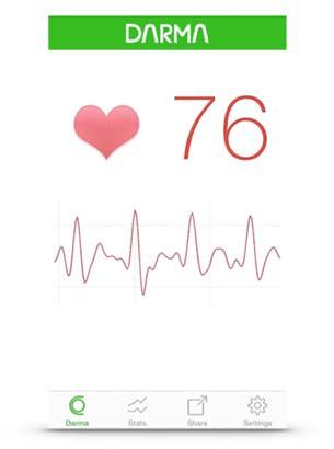 Darma เบาะรองนั่ง อัตราการเต้นของหัวใจ กราฟรูปคลื่นแสดงการเต้นของหัวใจ