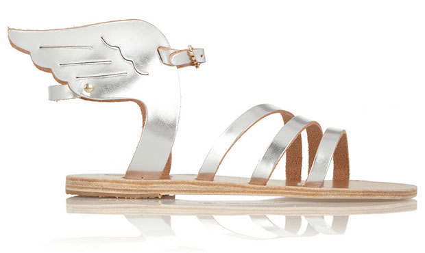Ikaria Metallic Leather Wing Sandals