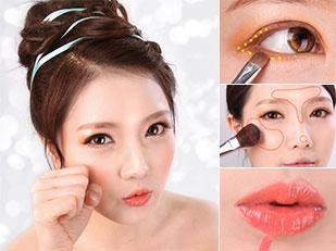 Korean Orange Makeup