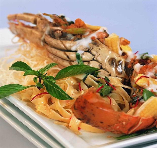 Lobster Hoh Mok ห่อหมกกุ้งมังกร